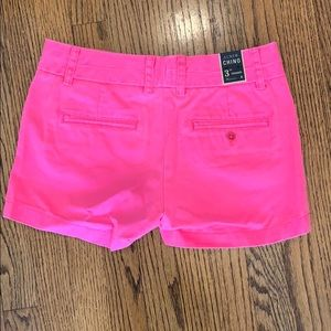 J. Crew Shorts - Brand New, J.Crew Chino Shorts, Hot Pink, Size 0